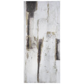 White & Gold Marble Canvas Wall Decor