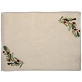Beige Holly Sprig Placemat