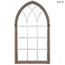 White Cathedral Window Wood Wall Decor