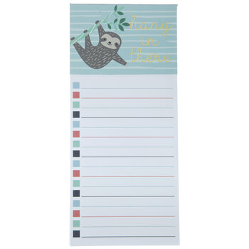 Hang In There Magnetic Notepad