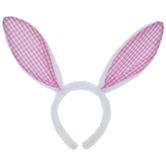 Gingham Bunny Ear Headband