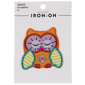 Sleepy Owl Iron-On Applique