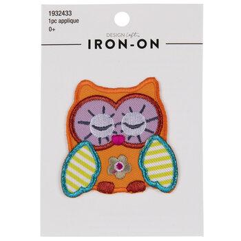 Sleepy Owl Iron-On Applique