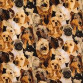 Allover Dogs Cotton Calico Fabric
