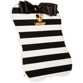 Black & White Striped Clipboard