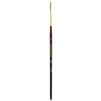 Golden Taklon Script Liner Paint Brush - Size 2