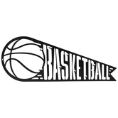 Black Basketball Pennant Metal Wall Decor