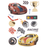 Race Car Driving 3D Stickers