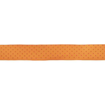 "Orange Swiss Dot Wired Edge Grosgrain Ribbon - 1 1/2"""