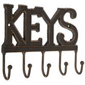 Keys Wall Decor With Hooks