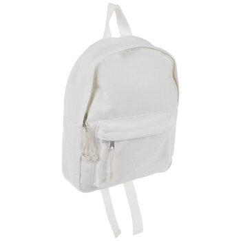 White Canvas Mini Backpack