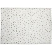 White & Metallic Gold Dot Placemat
