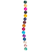 Multi-Color Dyed Round Jade Bead Strand - 12mm