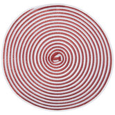 Red & White Spiral Round Placemat