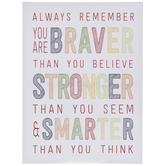 Braver, Stronger & Smarter Canvas Wall Decor