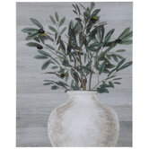 Potted Olive Tree Canvas Wall Decor