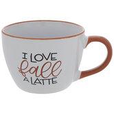 I Love Fall A Latte Mug