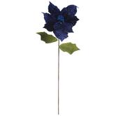 Velvet Poinsettia Stem