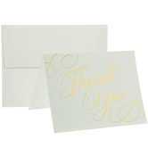 Ivory & Gold Thank You Cards