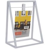 "White Metal Clip Frame - 3 1/2"" x 5"""