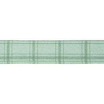 "Green Plaid Wired Edge Ribbon - 1 1/2"""