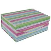 Pink, Green & Blue Striped Box