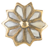Brass & Pearl Flower Knob