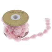 Light Pink Pom Pom Ribbon - 5/8""