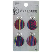 Woven Striped Fabric Charms