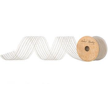 """Cream & Natural Jute Deco Mesh Ribbon - 2 1/2"""""""