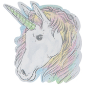 Unicorn Glitter Painted Wood Shape