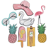 Vacay Vibes Tropical Stickers