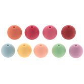 Bright Pastel Round Bead Multi Mix