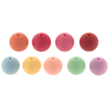 Bright Pastel Round Bead Multi Mix