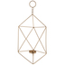 Gold Geometric Metal Wall Sconce