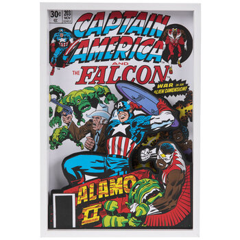Captain America & The Falcon Wood Wall Decor