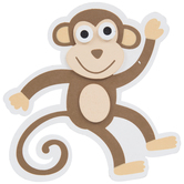 Monkey Painted Wood Shape