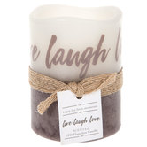 Vanilla Sugar Live, Laugh, Love LED Pillar Candle