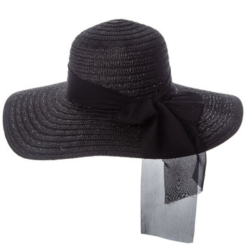 Black Floppy Brim Hat