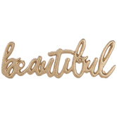 Gold Beautiful Metal Decor