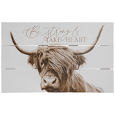 Be Strong & Take Heart Wood Wall Decor