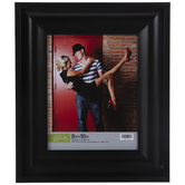 Black Glossy Scoop Wall Frame