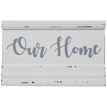 Distressed White Our Home Wood Decor
