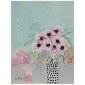 Soft Pastel Floral Canvas Wall Decor