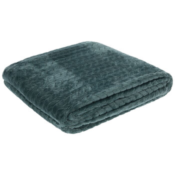 Braided Velvet Throw Blanket