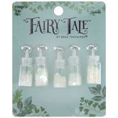 Iridescent White Glitter Bottle Charms