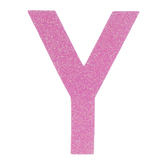 "Glitter Wood Letter Y - 4"""