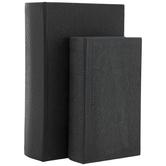 Gray Antique Textured Book Box Set