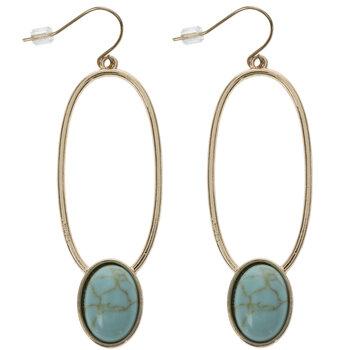Imitation Turquoise & Metal Earrings