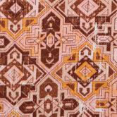 Pink Distressed Geometric Fleece Fabric